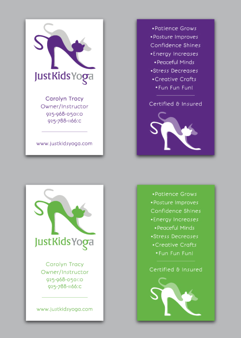 Yoga company marketing design advertising for yoga company business cards colourmoves