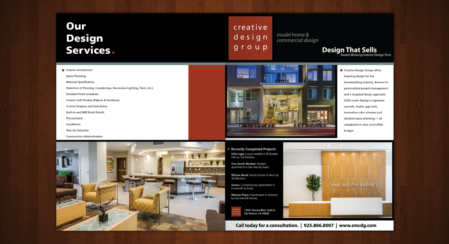 Interior design firm marketing advertising for interior for Architecture company